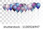 bright realistic helium vector... | Shutterstock .eps vector #1130526947