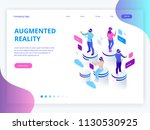 isometric virtual reality ... | Shutterstock .eps vector #1130530925
