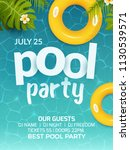 pool summer party invitation... | Shutterstock .eps vector #1130539571