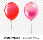 red and pink helium balloon... | Shutterstock .eps vector #1130544917