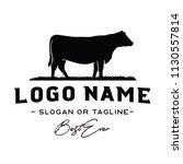 vintage cattle   beef logo... | Shutterstock .eps vector #1130557814