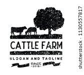 vintage cattle   beef logo... | Shutterstock .eps vector #1130557817