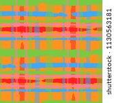 plaid. seamless grunge pattern... | Shutterstock .eps vector #1130563181