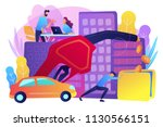 people loosing money by using... | Shutterstock .eps vector #1130566151