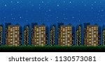 big modern city in the...   Shutterstock .eps vector #1130573081
