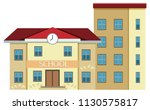 a school building on white... | Shutterstock .eps vector #1130575817