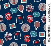 pop art british pattern with...   Shutterstock .eps vector #1130583209