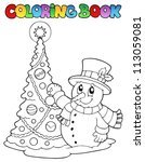 coloring book christmas... | Shutterstock .eps vector #113059081
