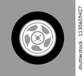 car wheel on a gray background... | Shutterstock .eps vector #1130605427