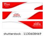 vector red color flat design ... | Shutterstock .eps vector #1130608469