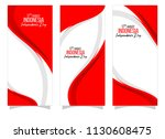 vector red color flat design ... | Shutterstock .eps vector #1130608475