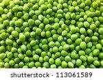 Green Peas Background Texture...