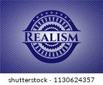 realism emblem with jean... | Shutterstock .eps vector #1130624357