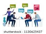 chat group speech bubble....   Shutterstock .eps vector #1130625437
