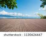 seaside square and wooden... | Shutterstock . vector #1130626667
