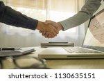 business handshake. business... | Shutterstock . vector #1130635151