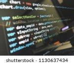 programming code on computer...   Shutterstock . vector #1130637434