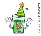 clown green smoothie mascot... | Shutterstock .eps vector #1130638571