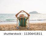 summer beach vacation concept ... | Shutterstock . vector #1130641811