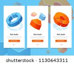 business stats  banner with... | Shutterstock .eps vector #1130643311