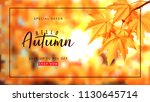 autumn sale background template.... | Shutterstock .eps vector #1130645714