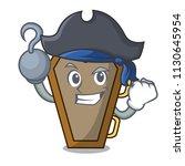pirate coffin character cartoon ... | Shutterstock .eps vector #1130645954