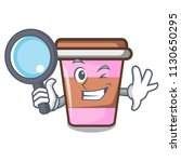 detective coffee cup character... | Shutterstock .eps vector #1130650295