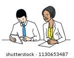 vector illustration character... | Shutterstock .eps vector #1130653487