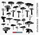 african tree isolated... | Shutterstock .eps vector #1130657684