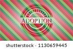 adoption christmas style badge.. | Shutterstock .eps vector #1130659445