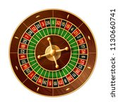 casino roulette wheel game 3d... | Shutterstock .eps vector #1130660741