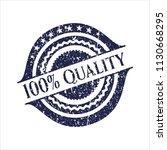 blue 100  quality distress... | Shutterstock .eps vector #1130668295