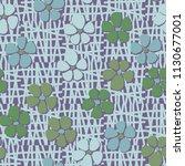 seamless pattern. flowers... | Shutterstock .eps vector #1130677001
