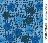seamless pattern. flowers... | Shutterstock .eps vector #1130677019