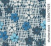 seamless pattern. flowers... | Shutterstock .eps vector #1130677025