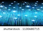 binary circuit board future... | Shutterstock .eps vector #1130680715