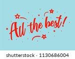 all the best card. beautiful...   Shutterstock .eps vector #1130686004