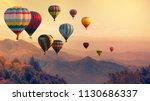 Hot Air Balloon Above High...