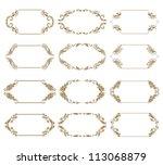 set of ornate floral vector... | Shutterstock .eps vector #113068879