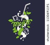 modern hand drawn lettering...   Shutterstock .eps vector #1130691191