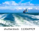 Cargo Ship Sailing In To The...