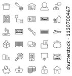 thin line vector icon set  ... | Shutterstock .eps vector #1130700467