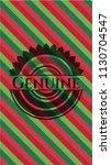 genuine christmas badge. | Shutterstock .eps vector #1130704547