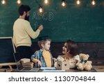 school lesson concept. teacher... | Shutterstock . vector #1130704844