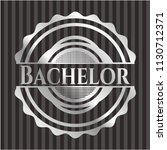 bachelor silver badge or emblem | Shutterstock .eps vector #1130712371