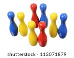 bowling pins on white background | Shutterstock . vector #113071879