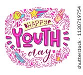happy youth day. beautiful... | Shutterstock .eps vector #1130719754