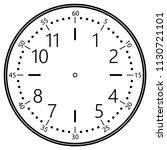 clock face for house  alarm ... | Shutterstock .eps vector #1130721101