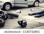 helmet  motorbike and driver...   Shutterstock . vector #1130732801