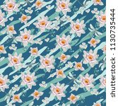 seamless vintage floral pattern ... | Shutterstock .eps vector #1130735444